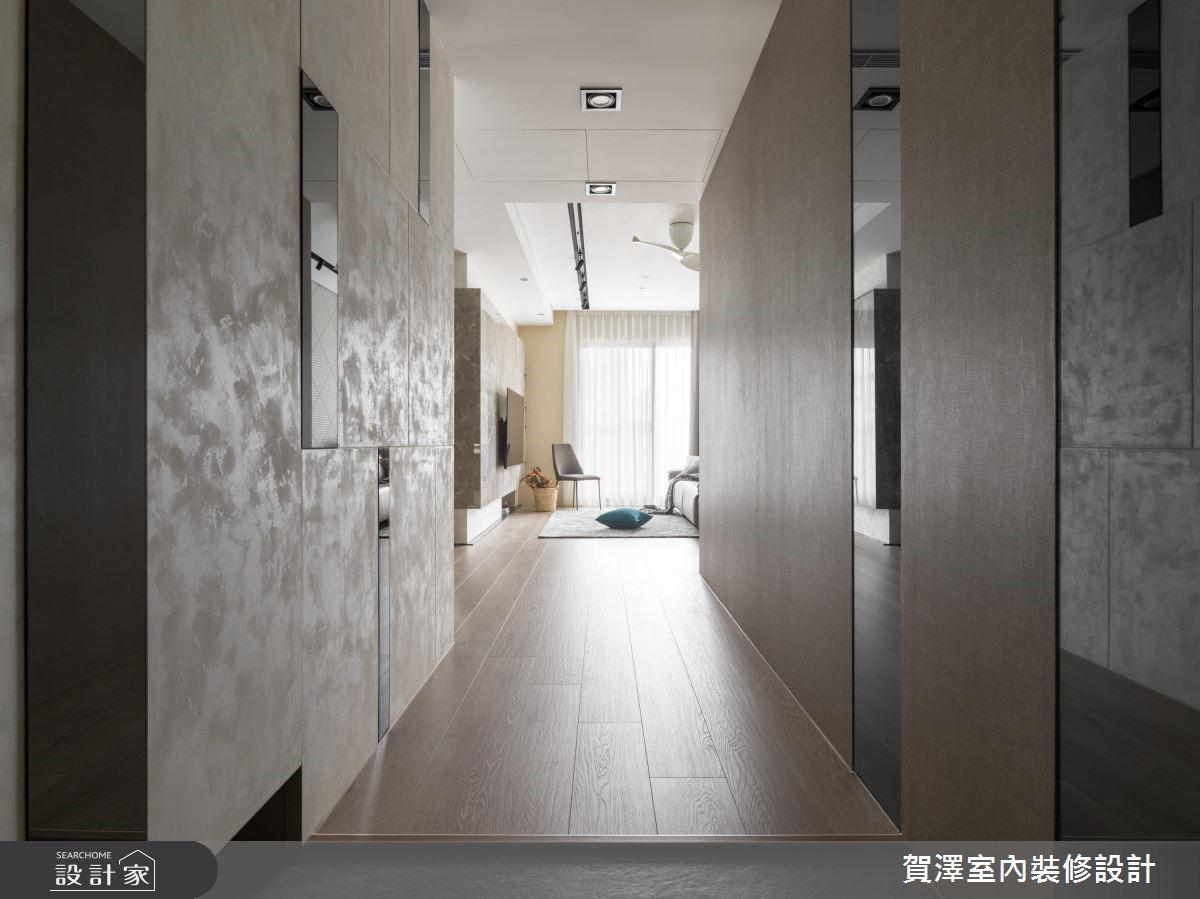 36坪新成屋(5年以下)_混搭風玄關案例圖片_賀澤室內設計_賀澤_41之2