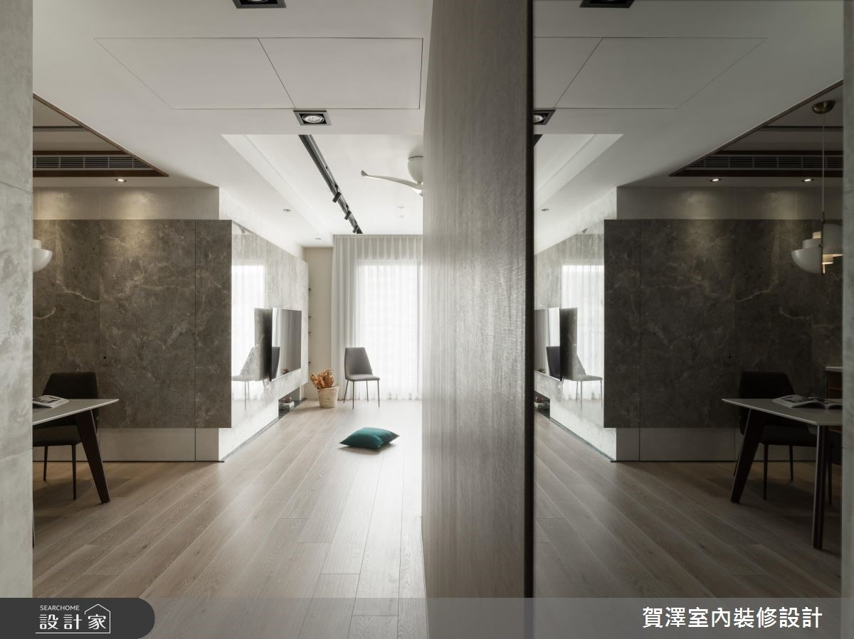 36坪新成屋(5年以下)_混搭風玄關案例圖片_賀澤室內設計_賀澤_41之4