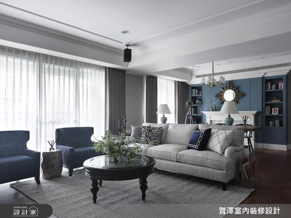 68坪新成屋(5年以下)_美式風客廳案例圖片_賀澤室內設計_賀澤_42之4