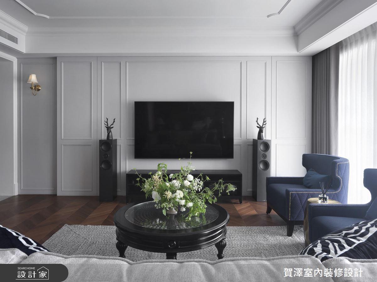 68坪新成屋(5年以下)_美式風客廳案例圖片_賀澤室內設計_賀澤_42之3