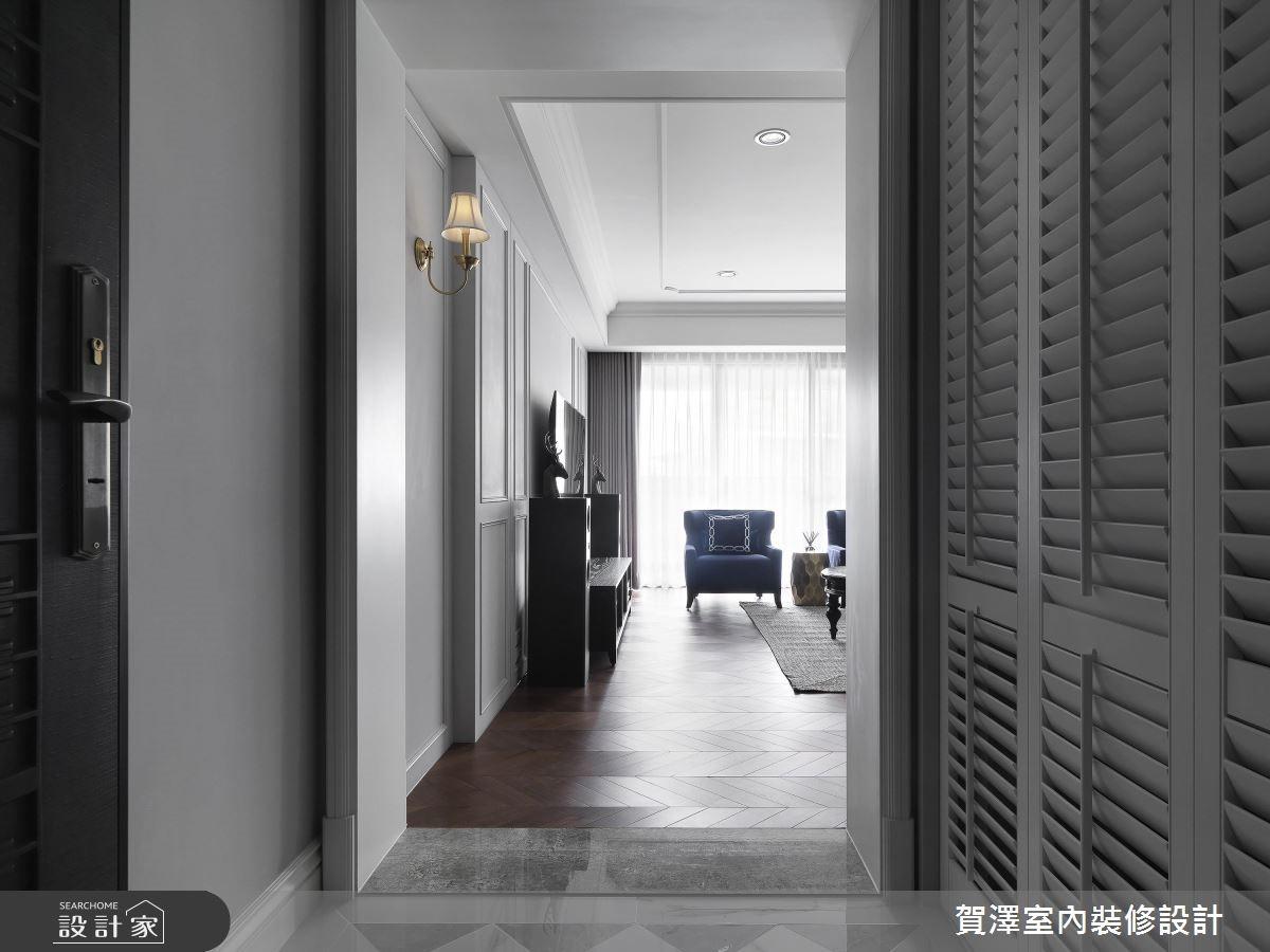 68坪新成屋(5年以下)_美式風玄關案例圖片_賀澤室內設計_賀澤_42之2