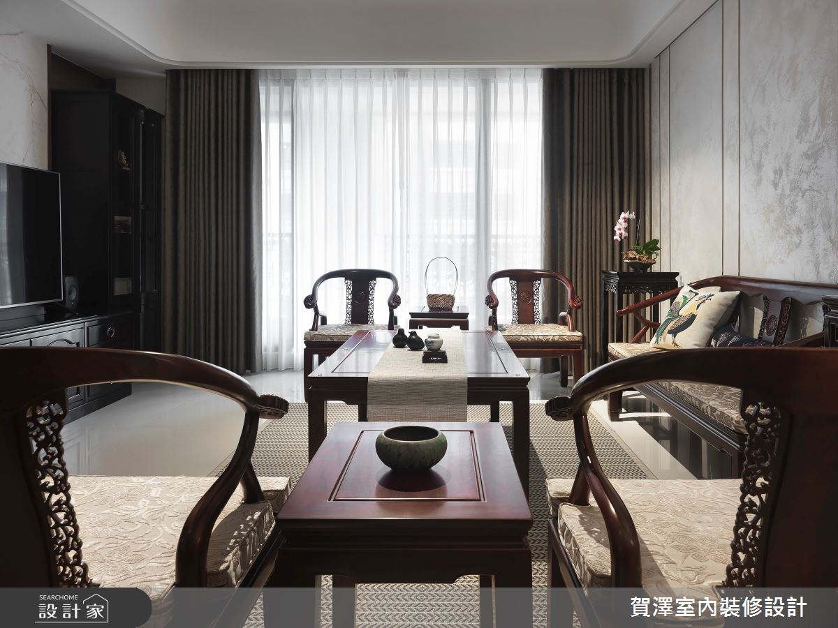 67坪新成屋(5年以下)_新東方風客廳案例圖片_賀澤室內設計_賀澤_44之4