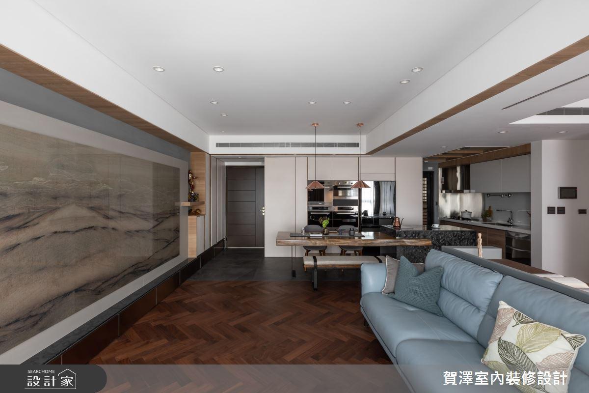67坪新成屋(5年以下)_混搭風客廳餐廳案例圖片_賀澤室內設計_賀澤_45之3