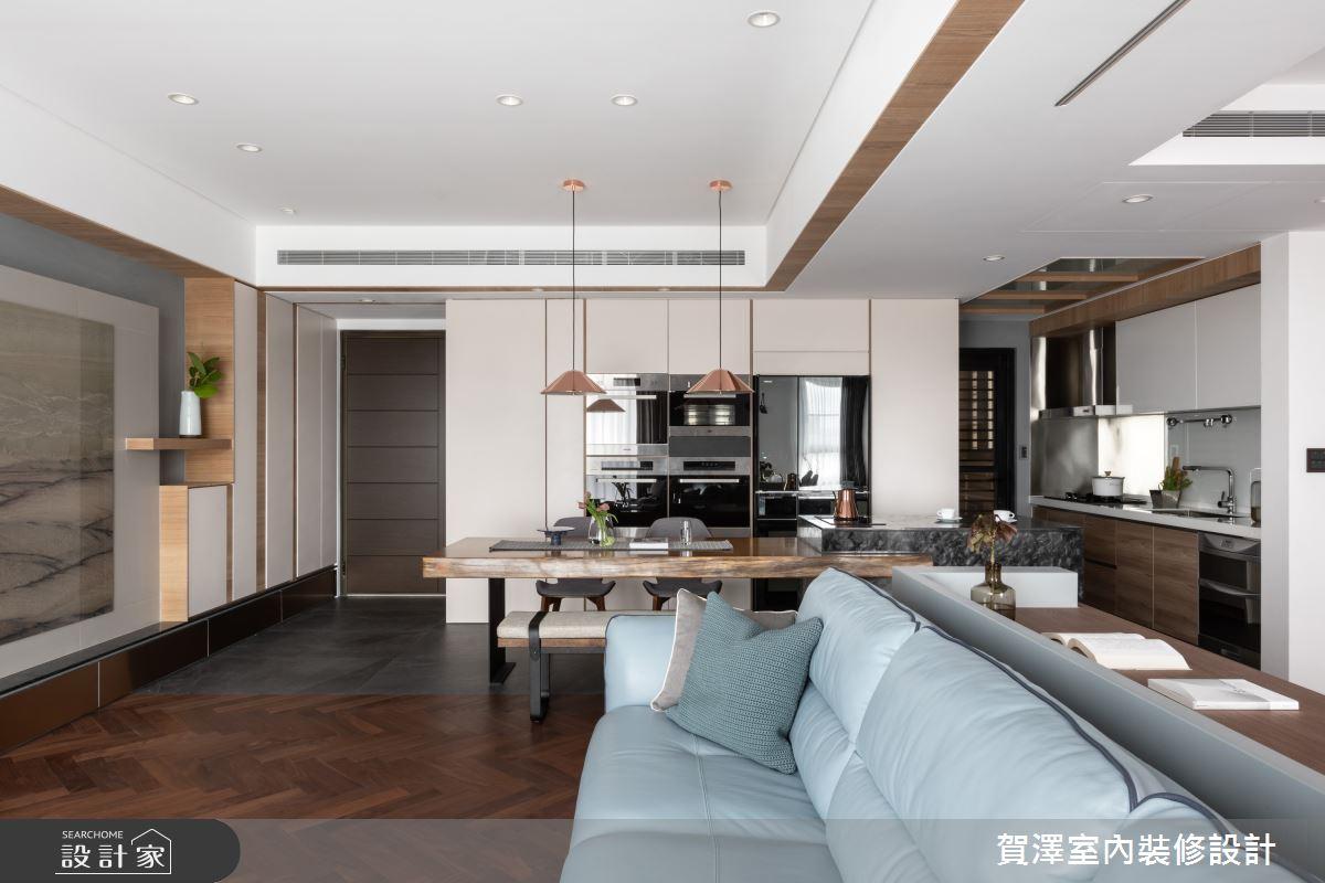 67坪新成屋(5年以下)_混搭風客廳餐廳案例圖片_賀澤室內設計_賀澤_45之4