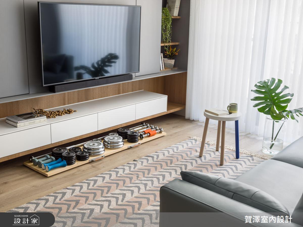 24坪新成屋(5年以下)_混搭風客廳案例圖片_賀澤室內設計_賀澤_47之6