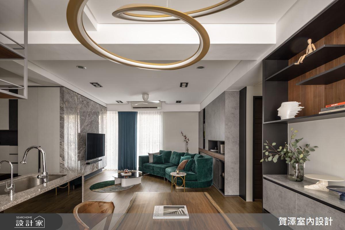 26坪新成屋(5年以下)_混搭風客廳案例圖片_賀澤室內設計_賀澤_50之12