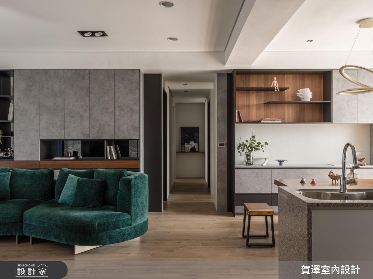 26坪新成屋(5年以下)_混搭風客廳案例圖片_賀澤室內設計_賀澤_50之11