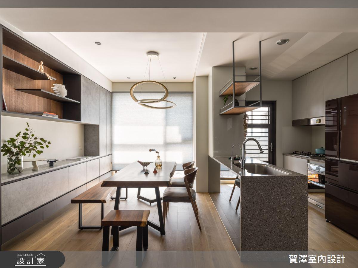 26坪新成屋(5年以下)_混搭風餐廳案例圖片_賀澤室內設計_賀澤_50之15