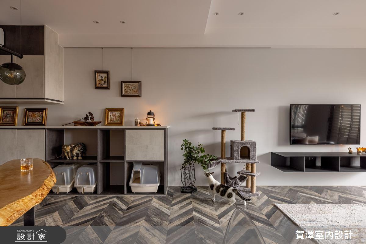 35坪新成屋(5年以下)_混搭風客廳案例圖片_賀澤室內設計_賀澤_54之3