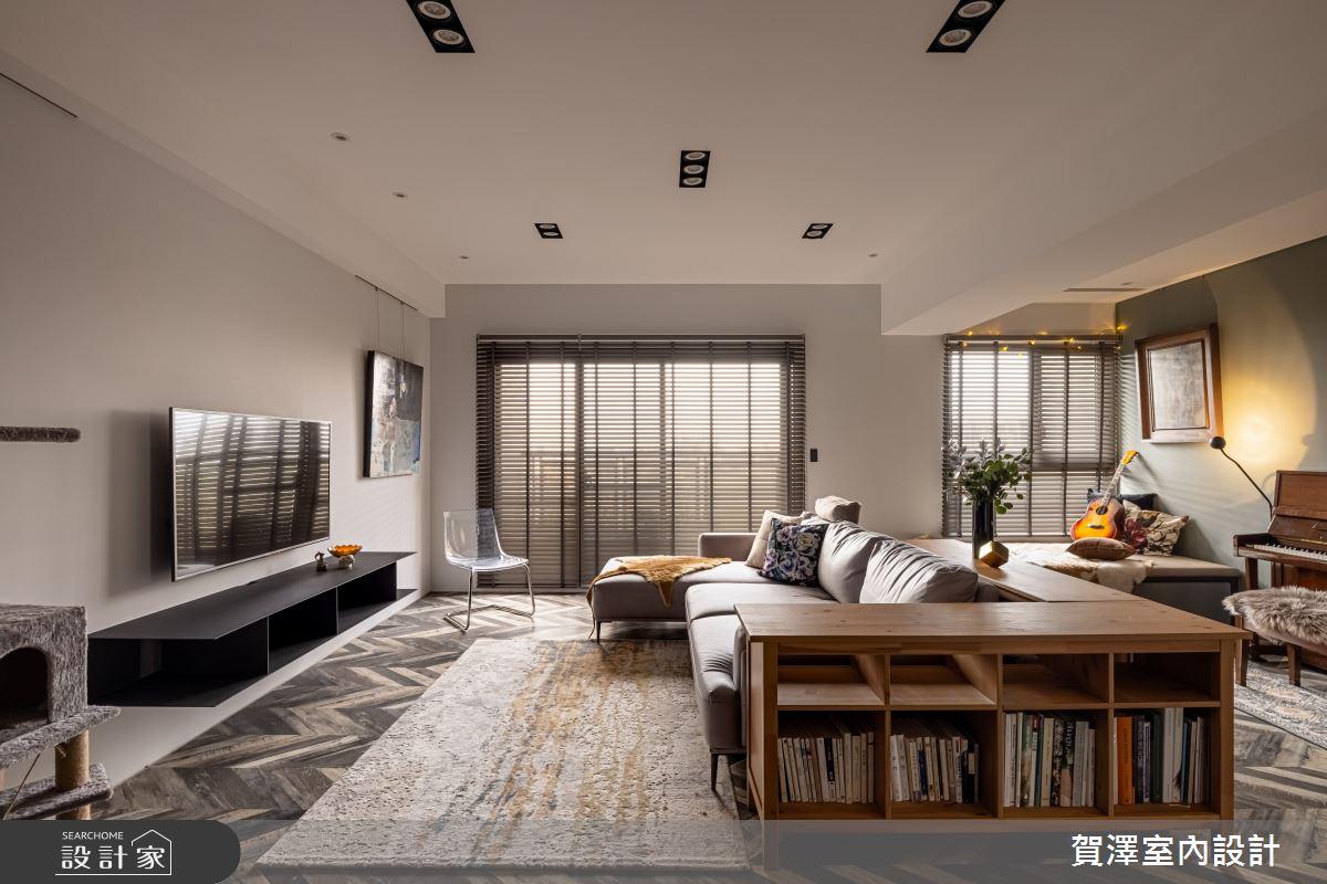 35坪新成屋(5年以下)_混搭風客廳案例圖片_賀澤室內設計_賀澤_54之4