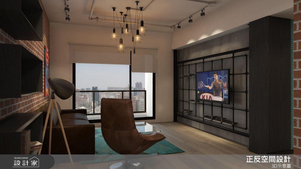 40坪新成屋(5年以下)_工業風客廳案例圖片_正反空間設計有限公司_正反_03之2