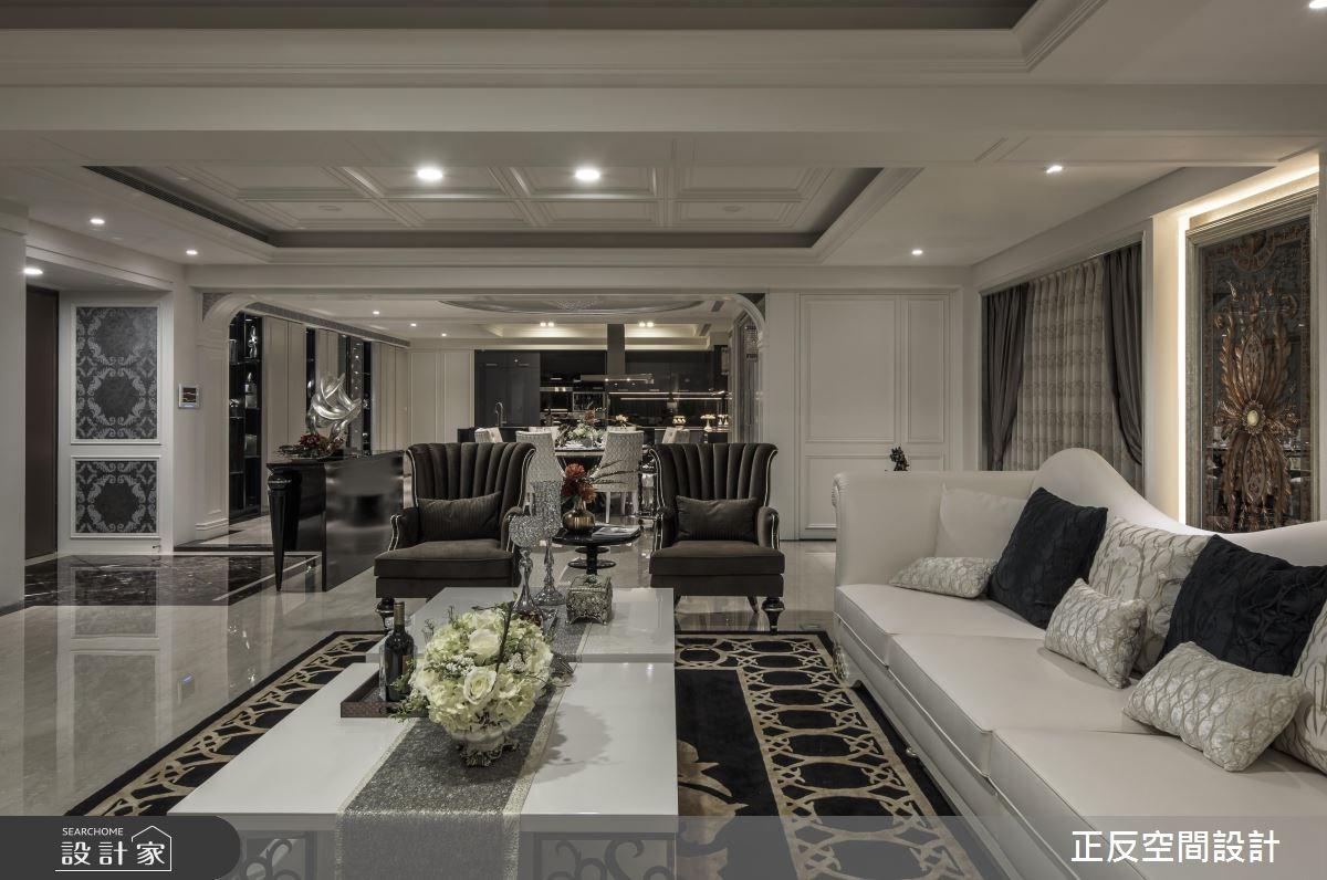 86坪新成屋(5年以下)_新古典客廳案例圖片_正反空間設計有限公司_正反_04之4