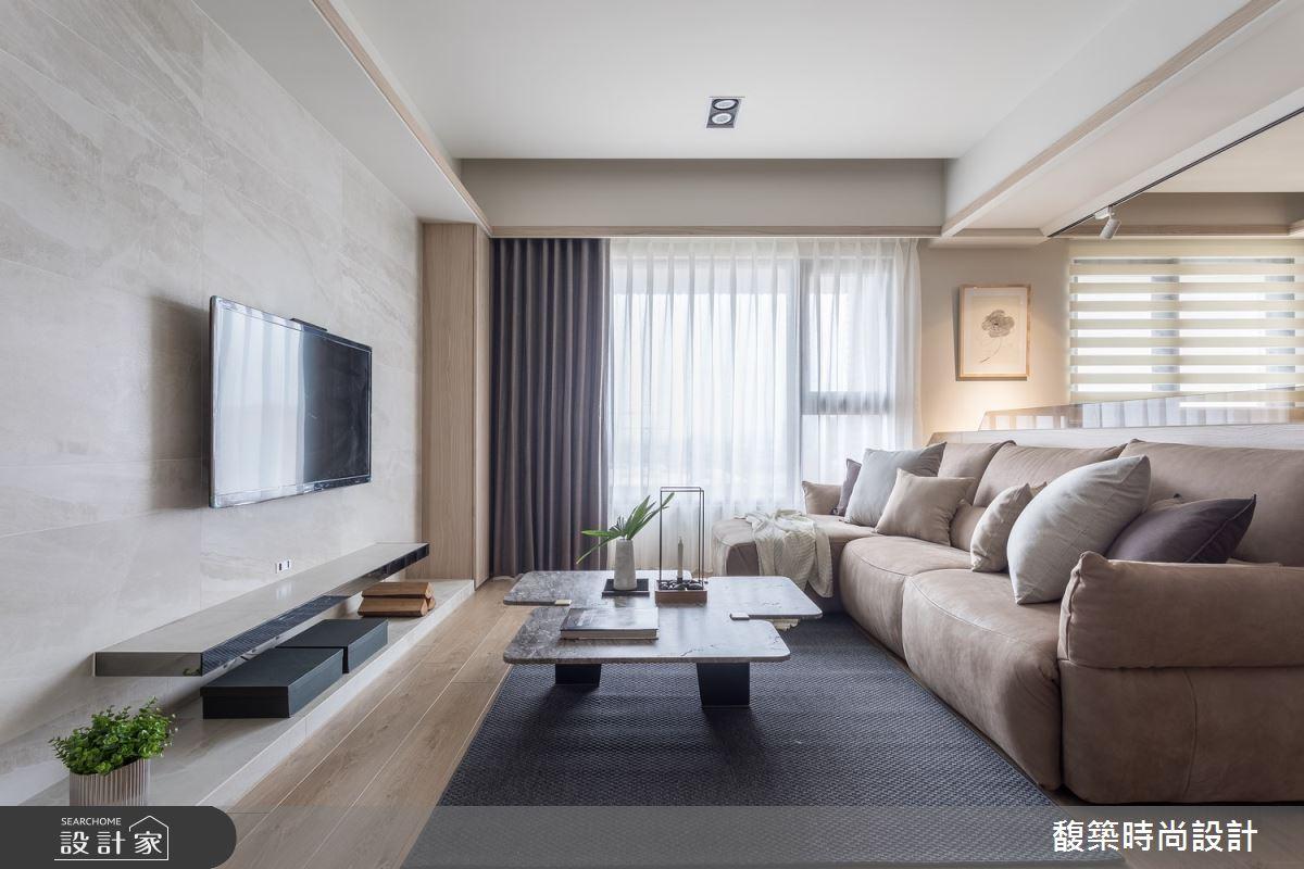 25坪新成屋(5年以下)_現代風客廳案例圖片_馥築時尚設計_馥築_11之3