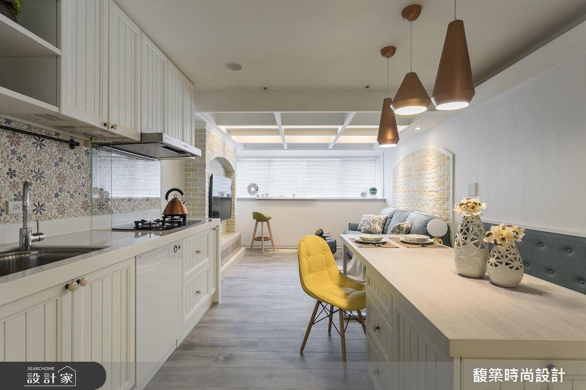 28坪老屋(31~40年)_美式風餐廳廚房案例圖片_馥築時尚設計_馥築_12之2