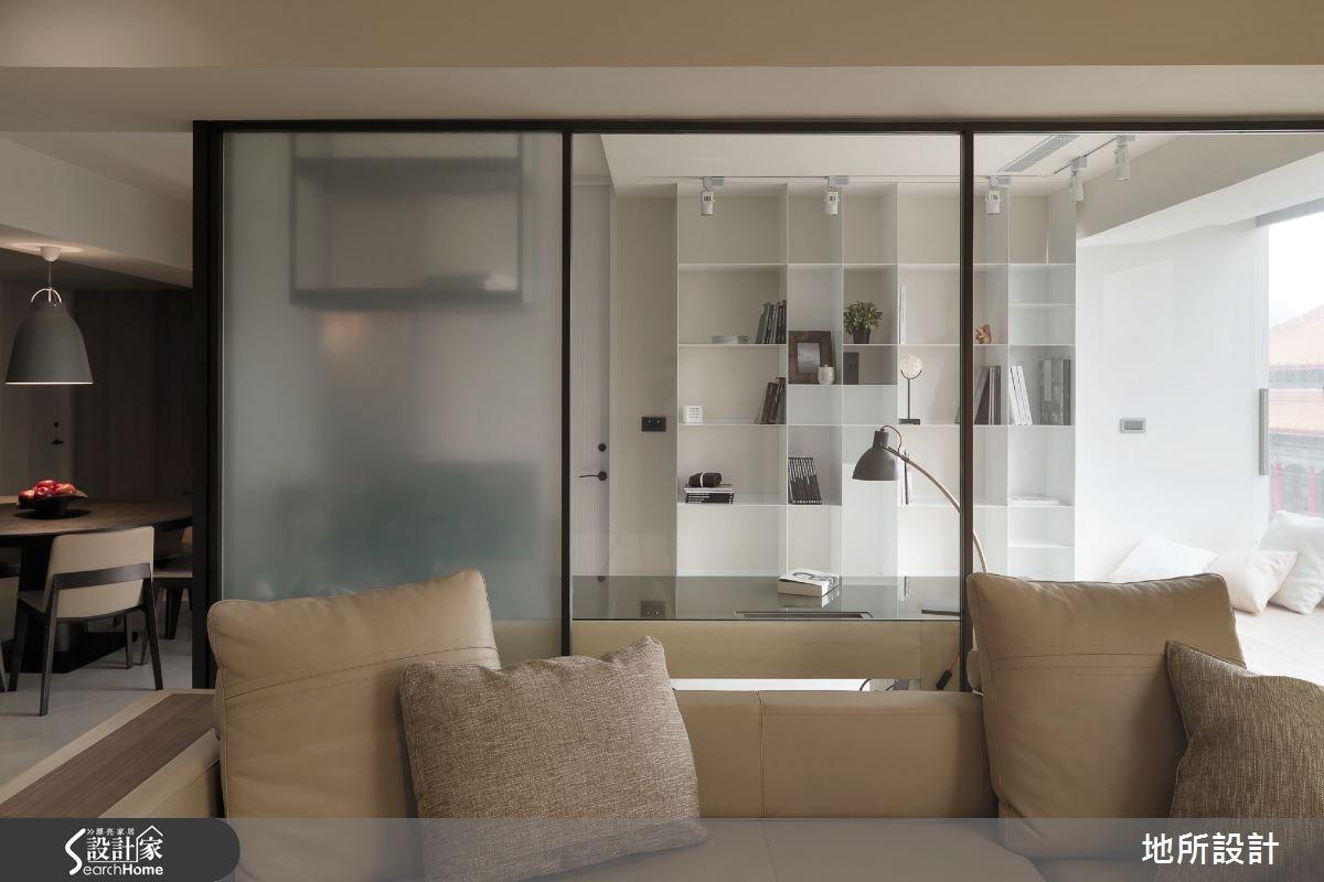 45坪老屋(16~30年)_現代風客廳書房案例圖片_地所設計有限公司_地所_05之4