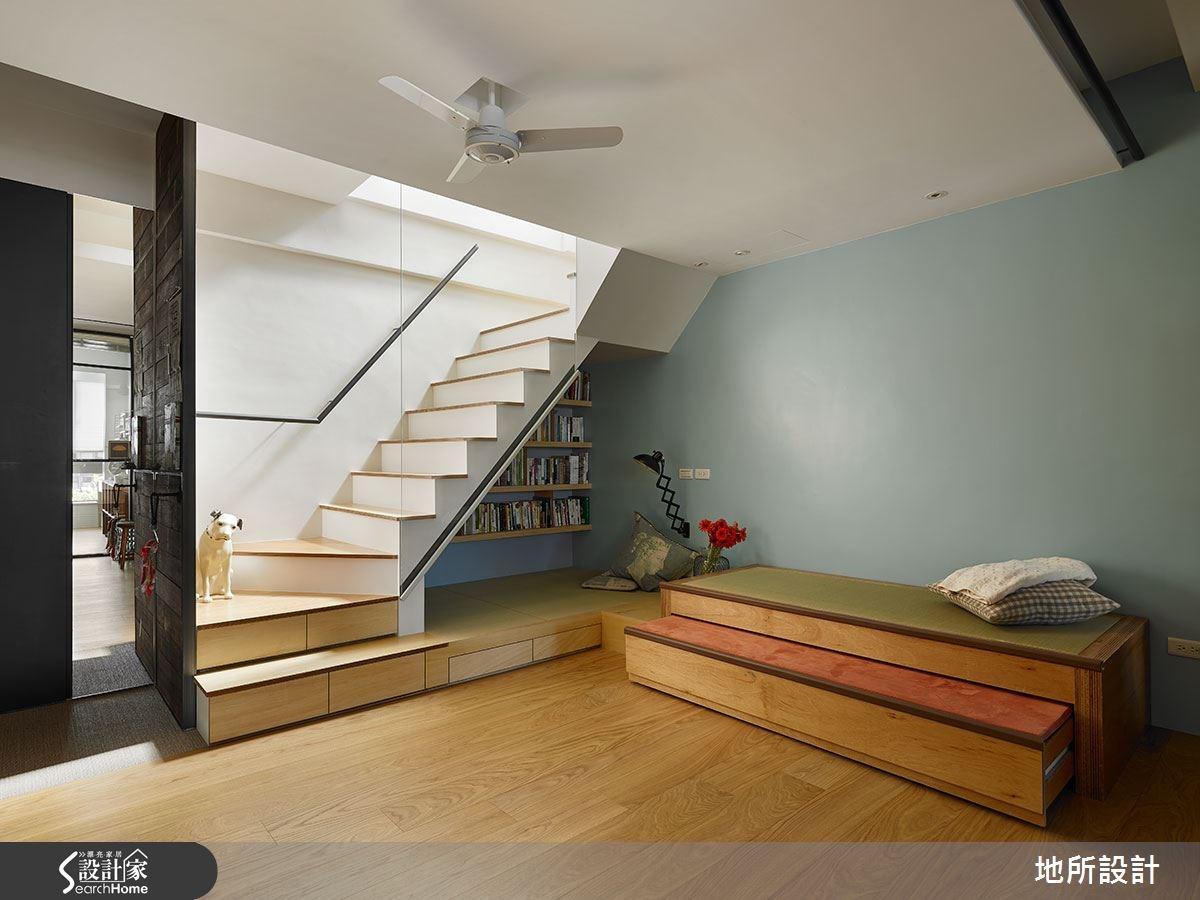 43坪老屋(16~30年)_混搭風臥榻樓梯案例圖片_地所設計有限公司_地所_08之4
