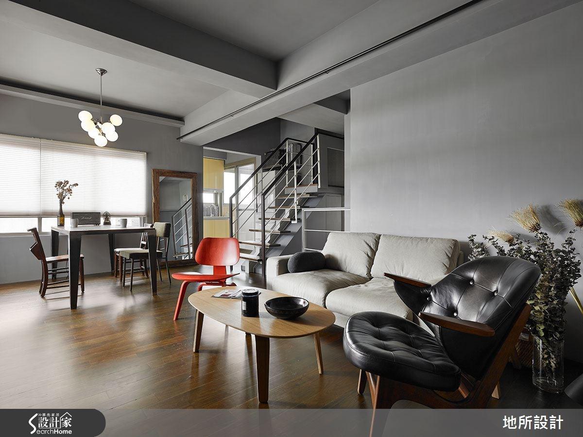 30坪老屋(16~30年)_現代風客廳餐廳樓梯案例圖片_地所設計有限公司_地所_09之2