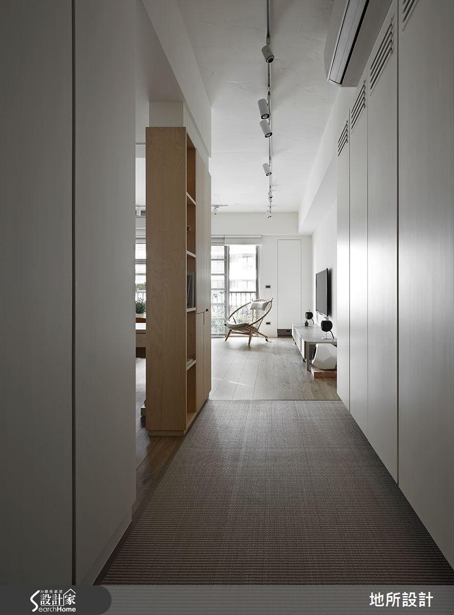 40坪新成屋(5年以下)_混搭風玄關走廊案例圖片_地所設計有限公司_地所_17之1
