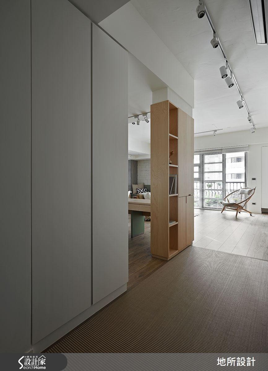 40坪新成屋(5年以下)_混搭風玄關走廊案例圖片_地所設計有限公司_地所_17之2