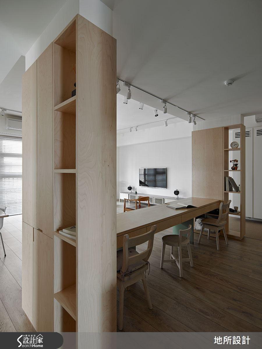 40坪新成屋(5年以下)_混搭風書房案例圖片_地所設計有限公司_地所_17之7