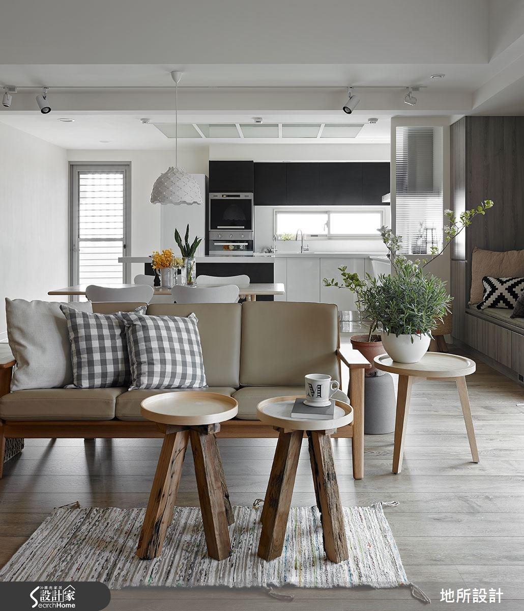 40坪新成屋(5年以下)_混搭風客廳餐廳廚房案例圖片_地所設計有限公司_地所_17之14