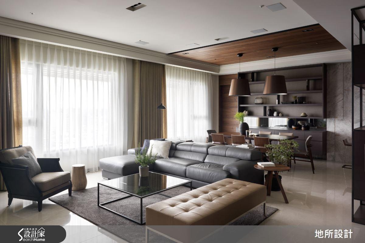 55坪新成屋(5年以下)_混搭風客廳餐廳書房案例圖片_地所設計有限公司_地所_18之4