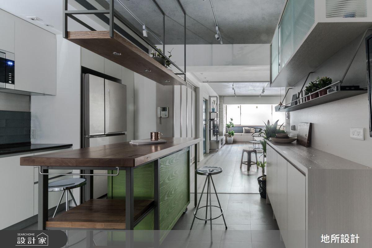 31坪老屋(16~30年)_現代風廚房吧檯案例圖片_地所設計有限公司_地所_22之12