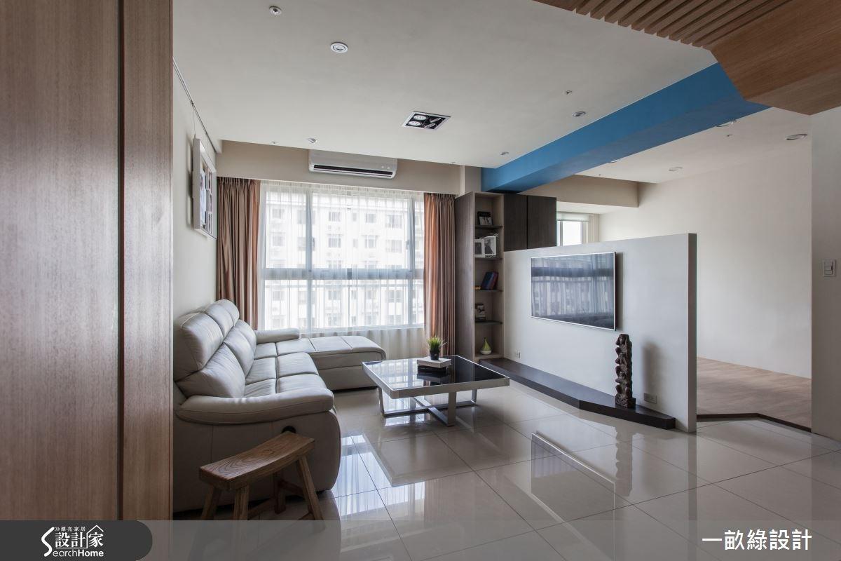 28坪新成屋(5年以下)_現代風客廳案例圖片_一畝綠設計_一畝綠_03之4