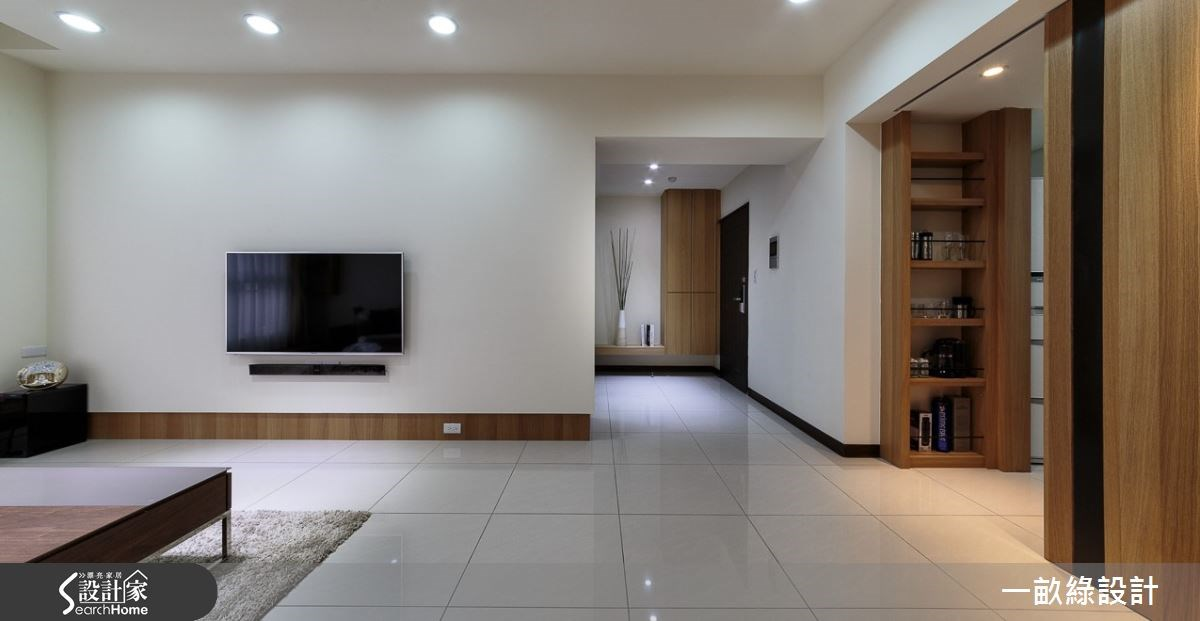 28坪新成屋(5年以下)_現代風客廳案例圖片_一畝綠設計_一畝綠_01之5