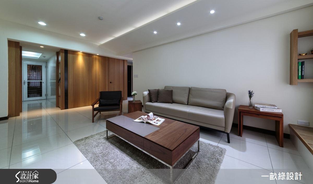 28坪新成屋(5年以下)_現代風客廳案例圖片_一畝綠設計_一畝綠_01之6