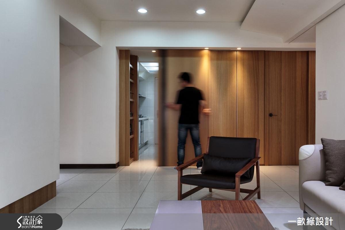 28坪新成屋(5年以下)_現代風客廳案例圖片_一畝綠設計_一畝綠_01之7
