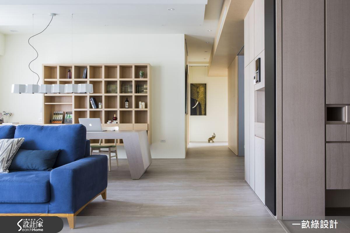 35坪新成屋(5年以下)_現代風客廳案例圖片_一畝綠設計_一畝綠_08之2