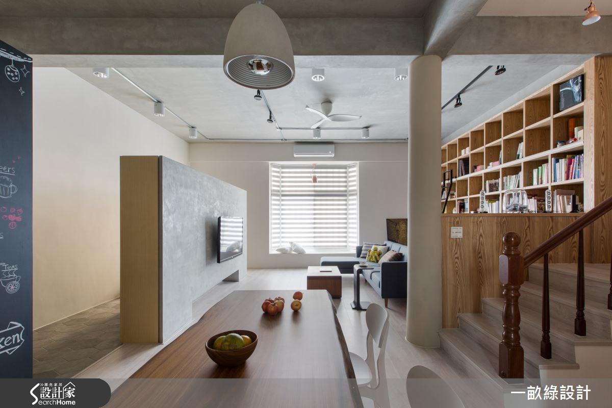 35坪老屋(16~30年)_現代風餐廳樓梯案例圖片_一畝綠設計_一畝綠_09之4