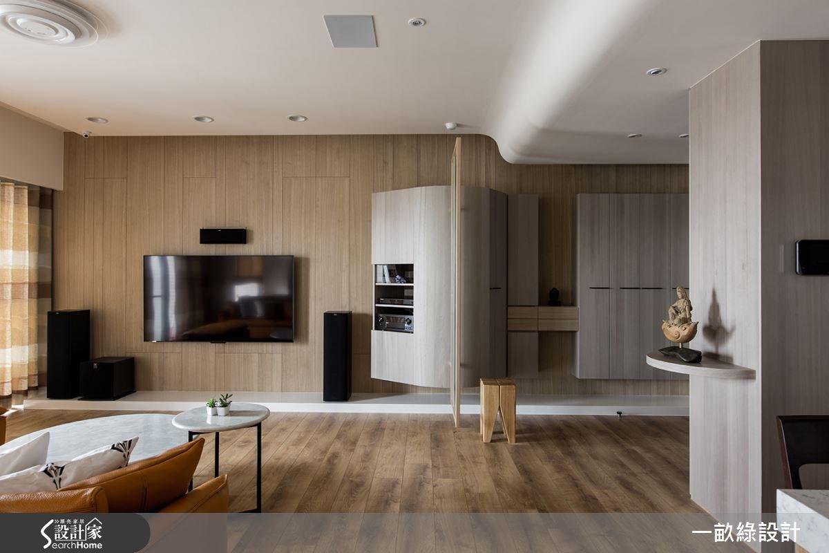 30坪新成屋(5年以下)_現代風客廳案例圖片_一畝綠設計_一畝綠_11之1