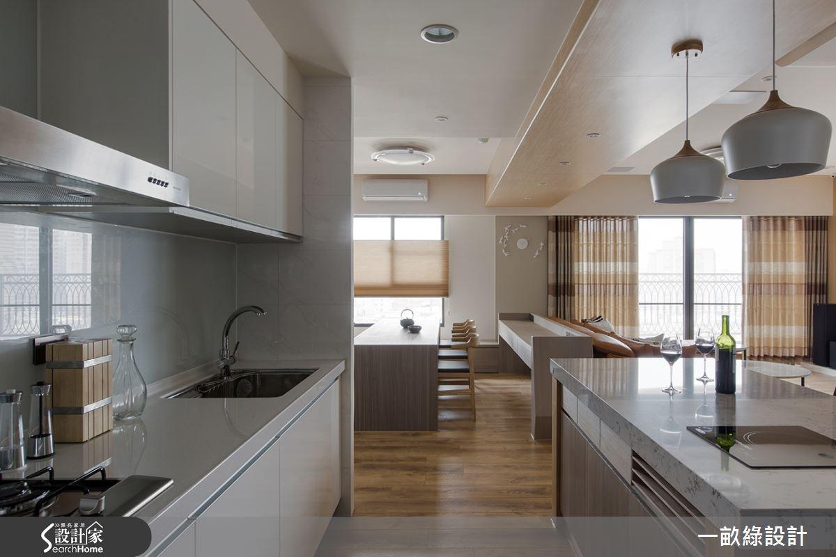 30坪新成屋(5年以下)_現代風廚房案例圖片_一畝綠設計_一畝綠_11之4