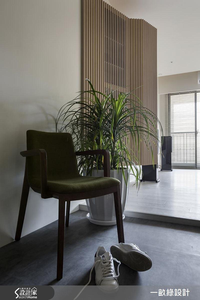 30坪新成屋(5年以下)_現代風玄關案例圖片_一畝綠設計_一畝綠_13之1