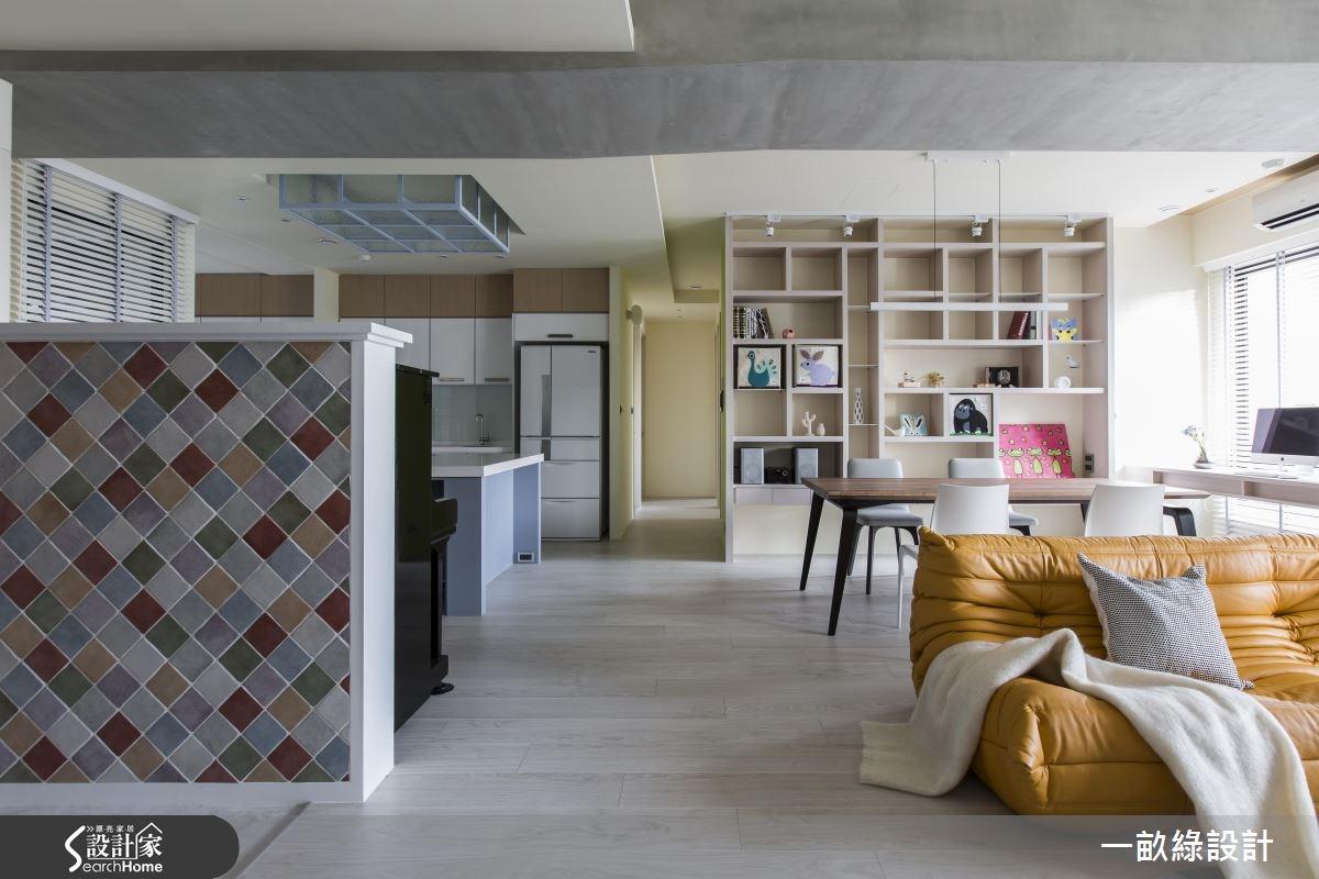 30坪新成屋(5年以下)_北歐風客廳餐廳案例圖片_一畝綠設計_一畝綠_14之3