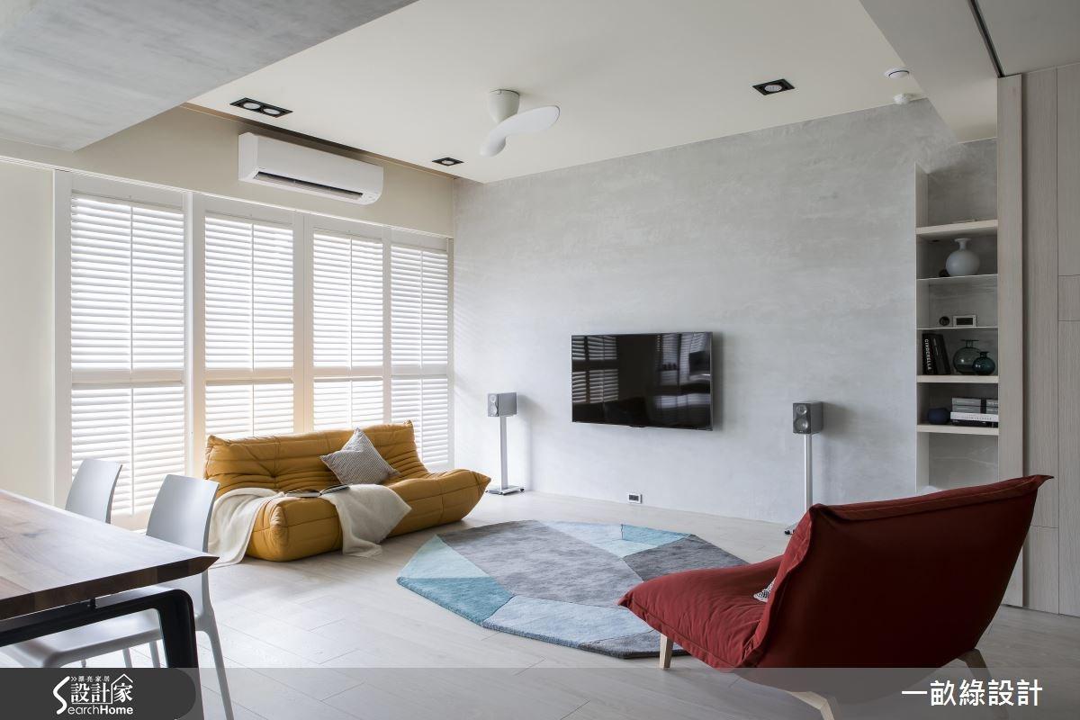30坪新成屋(5年以下)_北歐風客廳案例圖片_一畝綠設計_一畝綠_14之4