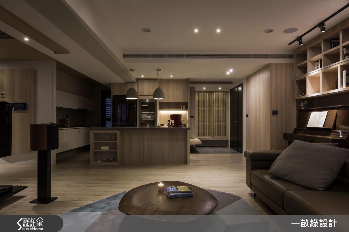 35坪新成屋(5年以下)_現代風客廳案例圖片_一畝綠設計_一畝綠_15之4