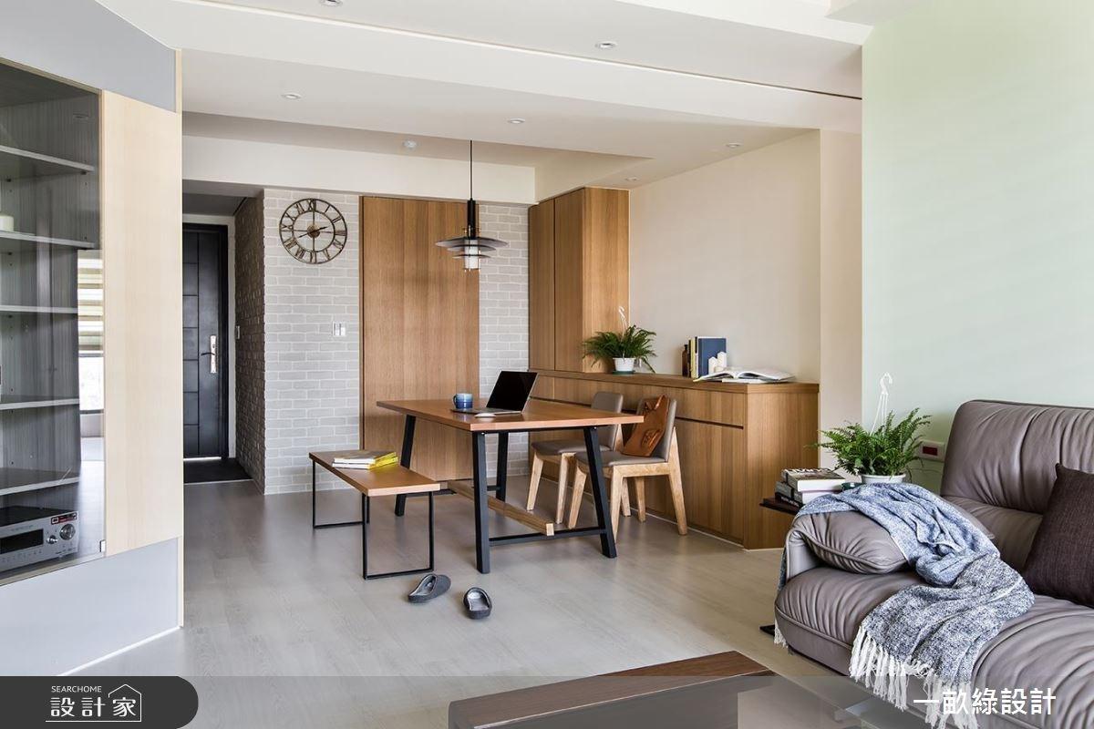 20坪新成屋(5年以下)_現代風客廳餐廳案例圖片_一畝綠設計_一畝綠_16之2