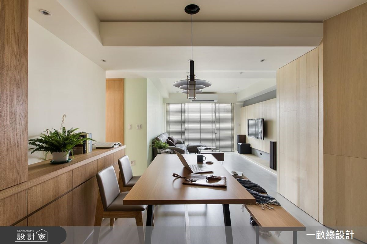 20坪新成屋(5年以下)_現代風餐廳案例圖片_一畝綠設計_一畝綠_16之4