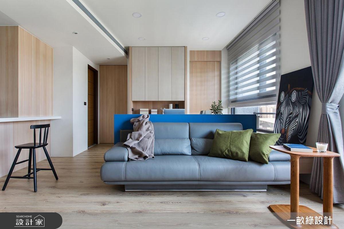 25坪新成屋(5年以下)_現代風客廳案例圖片_一畝綠設計_一畝綠_19之2