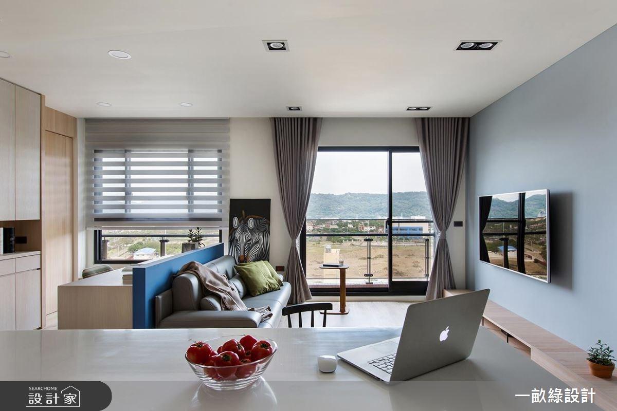 25坪新成屋(5年以下)_現代風客廳案例圖片_一畝綠設計_一畝綠_19之3
