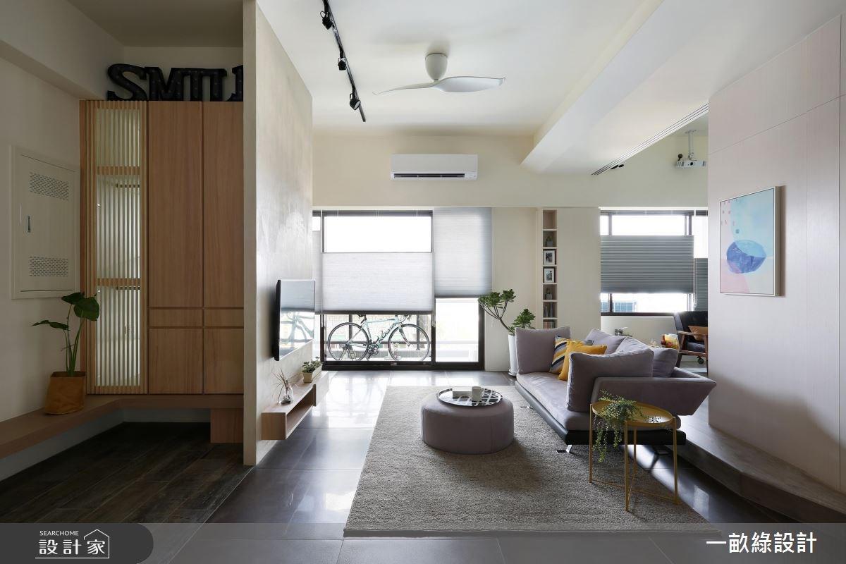 40坪新成屋(5年以下)_現代風客廳案例圖片_一畝綠設計_一畝綠_20之1