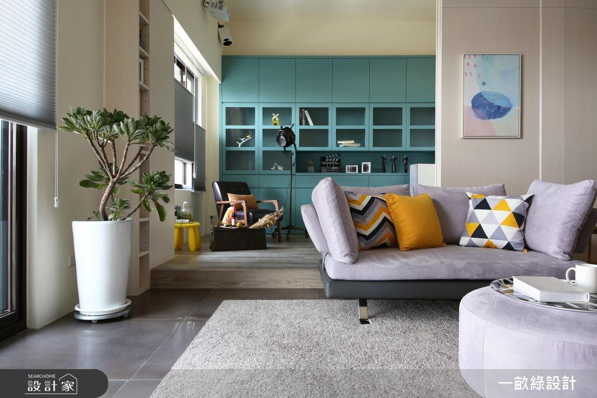 40坪新成屋(5年以下)_現代風客廳案例圖片_一畝綠設計_一畝綠_20之3