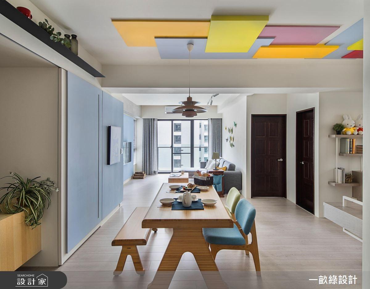 30坪新成屋(5年以下)_現代風餐廳案例圖片_一畝綠設計_一畝綠_22之1