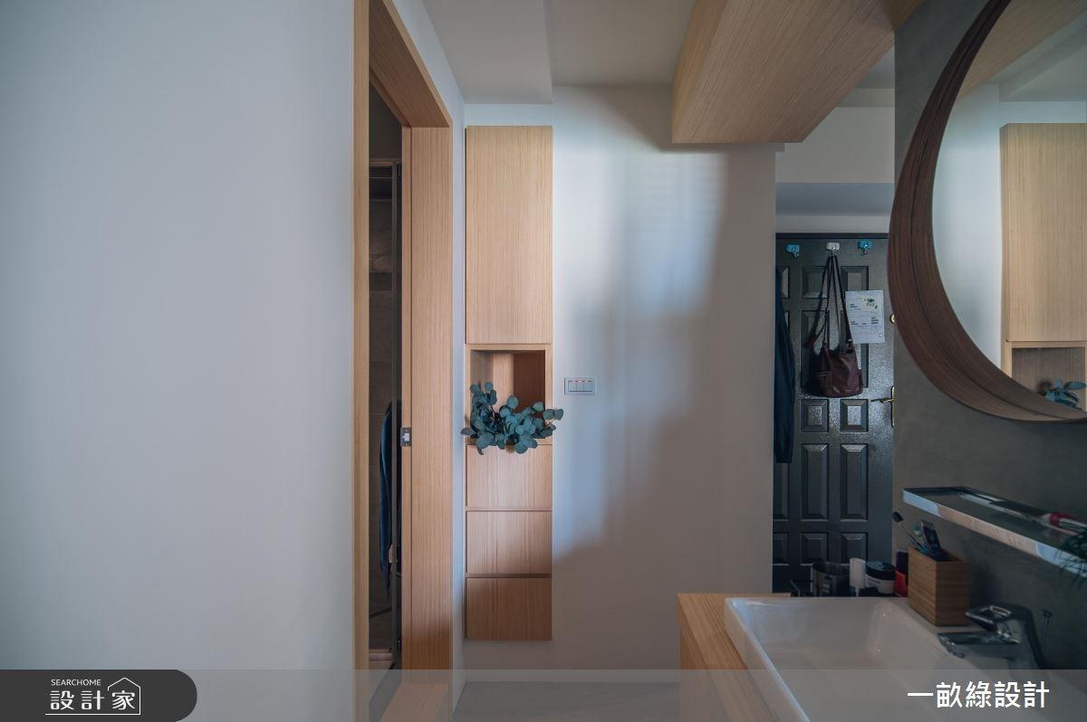 30坪新成屋(5年以下)_現代風玄關案例圖片_一畝綠設計_一畝綠_25之10