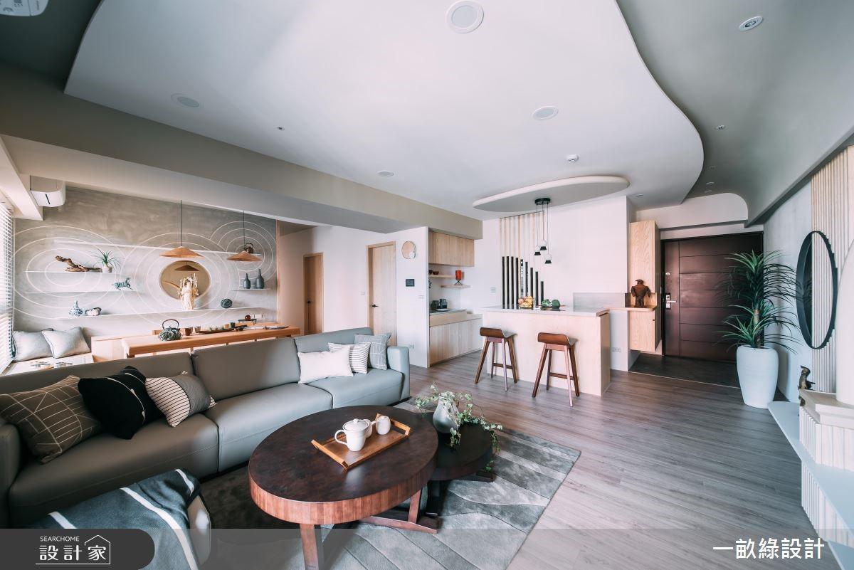 45坪新成屋(5年以下)_混搭風客廳案例圖片_一畝綠設計_一畝綠_30之2