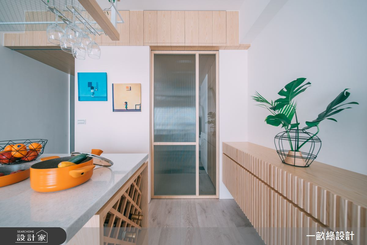 20坪新成屋(5年以下)_休閒風玄關吧檯案例圖片_一畝綠設計_一畝綠_32之2