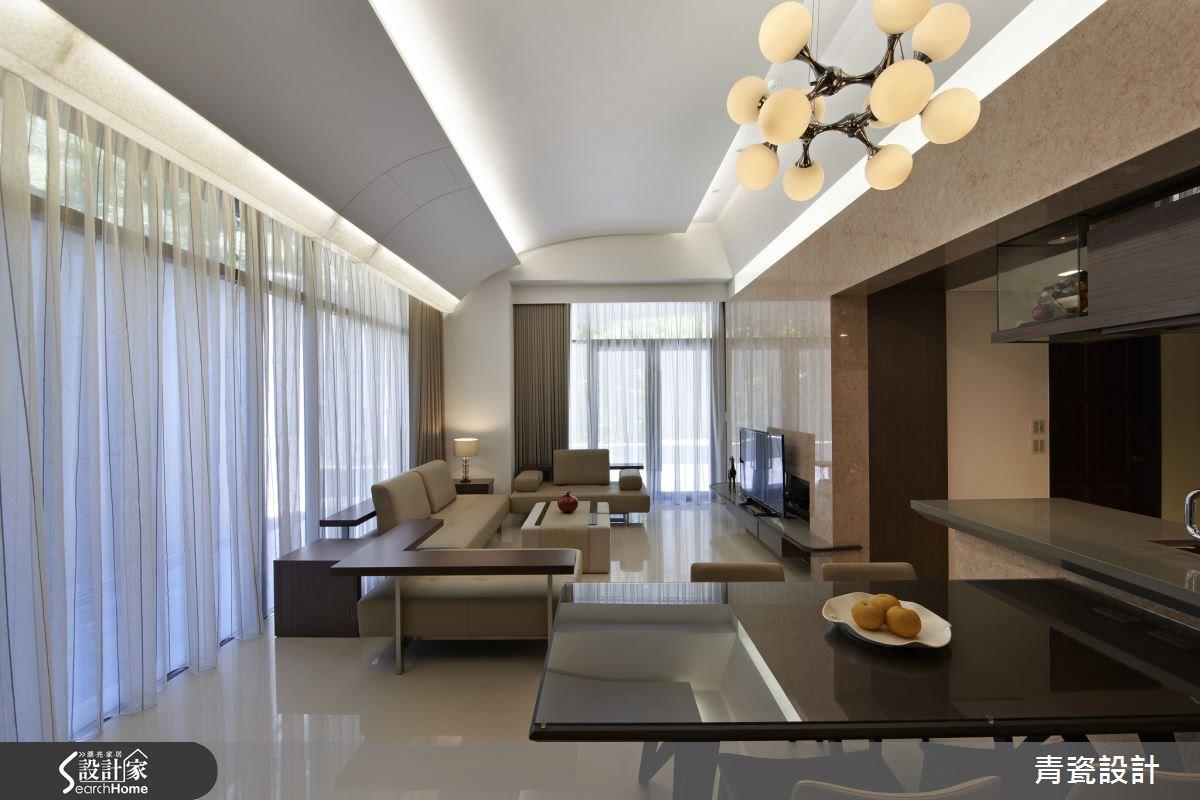 30坪新成屋(5年以下)_簡約風客廳餐廳案例圖片_青瓷設計工程有限公司_青瓷_01之4